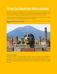 Things You Should Not Miss in Pompeii