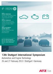 13th Stuttgart International Symposium - FKFS