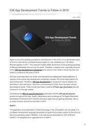 iOS App Development Trends to Follow in 2018