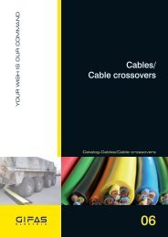 Cables/ Cable crossovers - GIFAS Electric GmbH