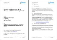 "Service Level Agreement (SLA) ""Server- und ... - ASPMED"