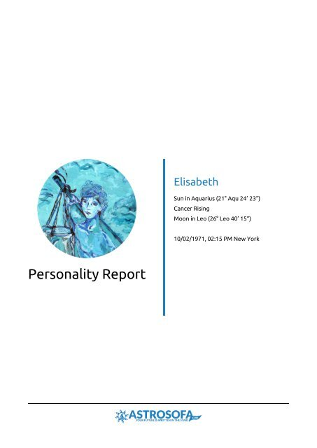 Personality Report Elisabeth