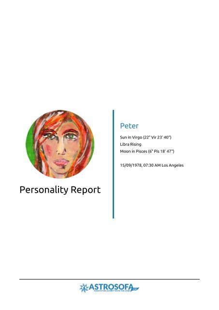 Personality Report Peter
