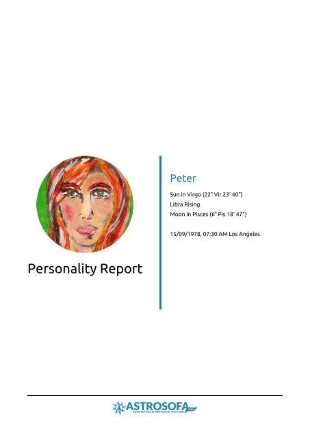 Personality Report Brenda