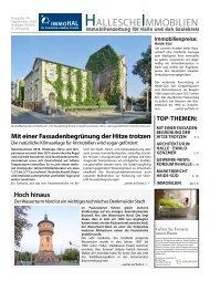 Hallesche Immobilienzeitung Ausgabe 76 September 2018