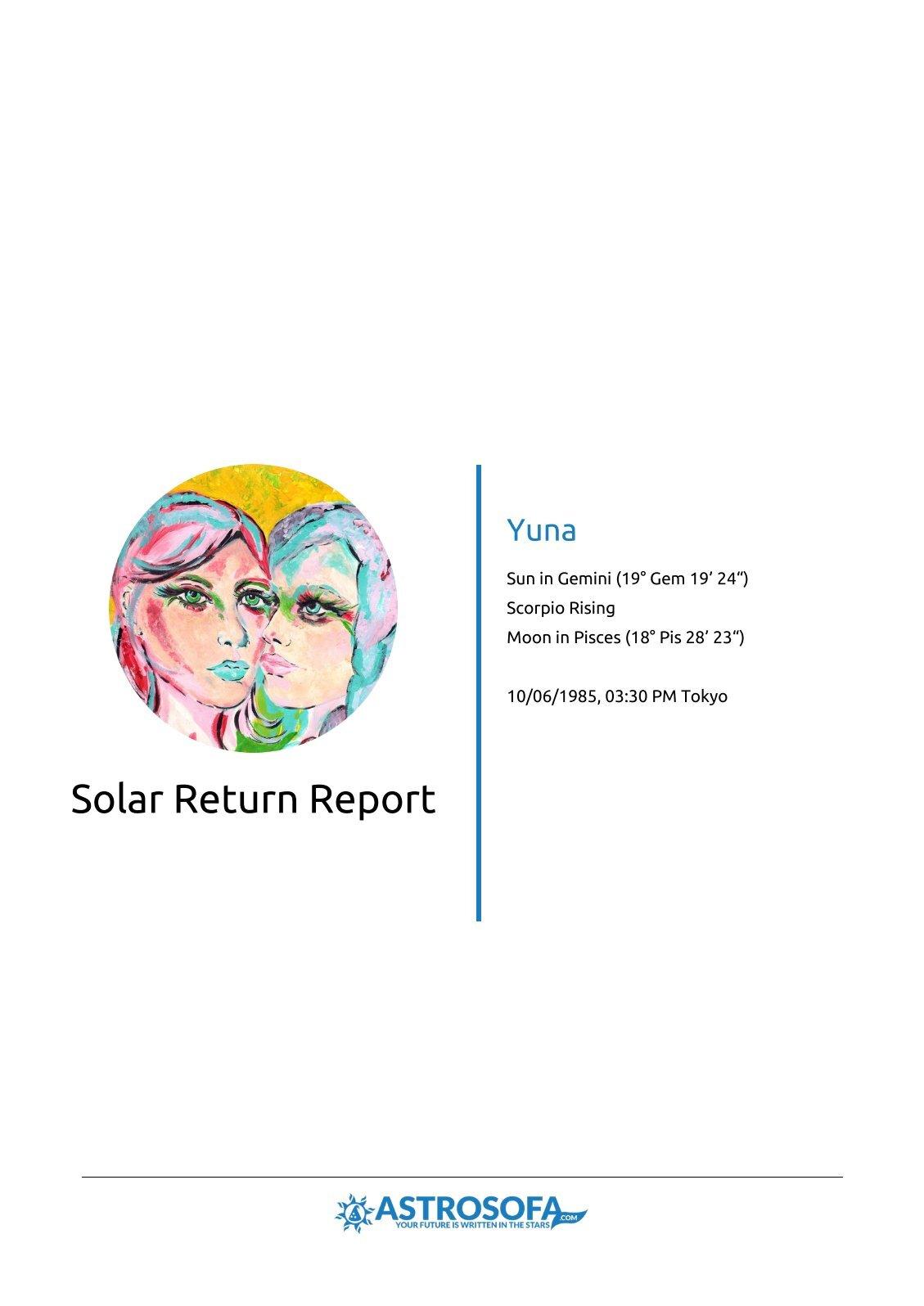 Solar Return Yuna
