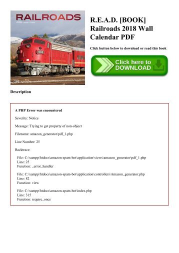 R.E.A.D. [BOOK] Railroads 2018 Wall Calendar PDF