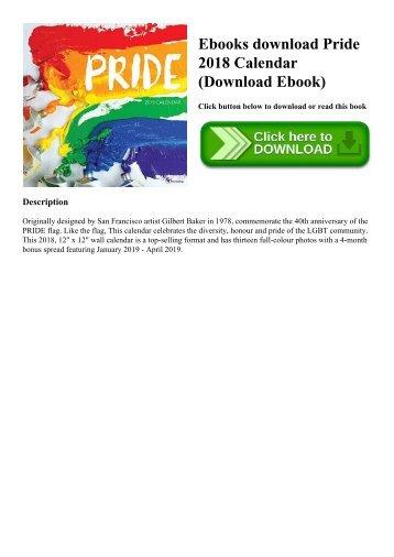 Ebooks download Pride 2018 Calendar (Download Ebook)