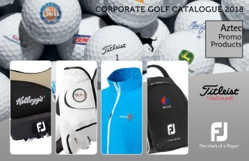 2018 Corporate  Golf Catalogue