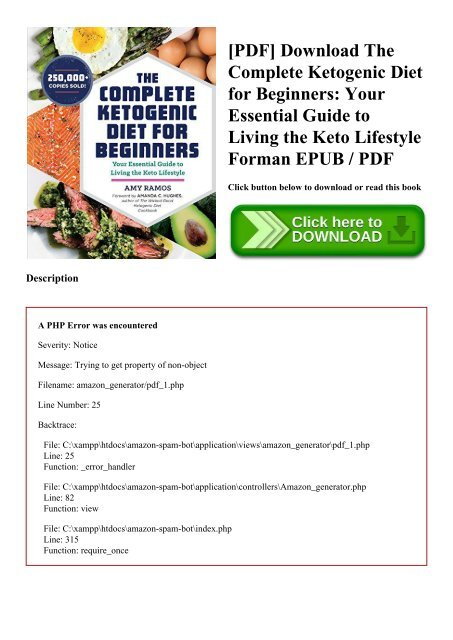 the complete ketogenic diet for beginners pdf free