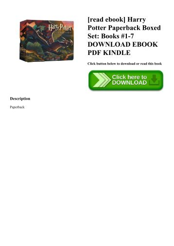 [read ebook] Harry Potter Paperback Boxed Set Books #1-7 DOWNLOAD EBOOK PDF KINDLE