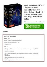 R E A D ^ MCAT Complete 7-Book Subject Review 2019-2020 Online +