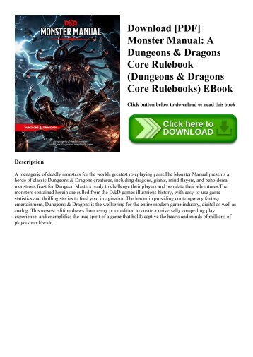 Download [PDF] Monster Manual A Dungeons & Dragons Core Rulebook (Dungeons & Dragons Core Rulebooks) EBook