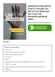 ((DOWNLOAD)) EPUB Unfuk Yourself Get Out of Your Head and Into Your Life Download and Read online