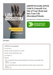 ((DOWNLOAD)) EPUB Unfuk Yourself Get Out of Your Head and Into Your Life (Download Ebook)