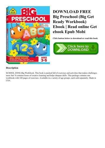 DOWNLOAD FREE Big Preschool (Big Get Ready Workbook) Ebook  Read online Get ebook Epub Mobi