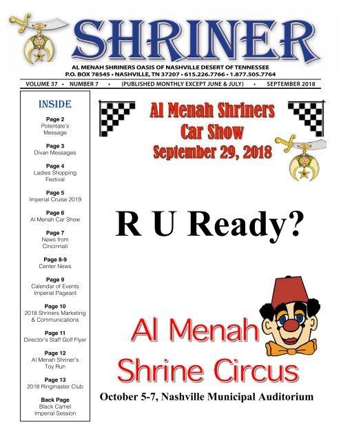 SHRINER SEPTEMBER 2018