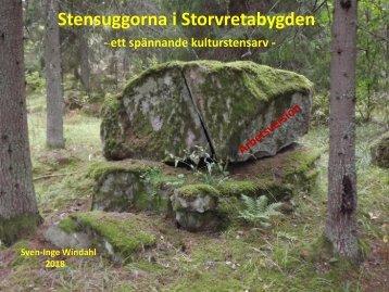 Stensuggorna i Storvretabygden - ett spännande kulturstensarv.   Sven-Inge Windahl, 2018