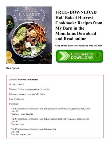 pdf download half baked harvest cookbook recipes from my barn in
