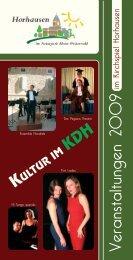 Veranstaltungen 2009 - Horhausen - Westerwald
