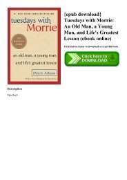 {epub download} Tuesdays with Morrie An Old Man  a Young Man  and Life's Greatest Lesson (ebook online)