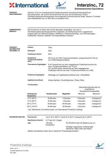 Interzinc® 72 - H & S Beschichtungssysteme