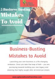 Tips to Avoid Business-Busting Mistakes | A Place at Home