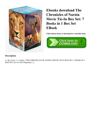 Ebooks download The Chronicles of Narnia Movie Tie-In Box Set 7 Books in 1 Box Set EBook