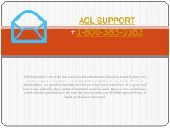 Aol Support Number- 1-800-385-0162  Aol Tollfree Number Support