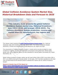 Global Collision Avoidance System Market Size, Historical Breakdown Data and Forecast to 2025