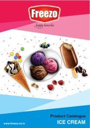 Freezo Ice Cream Catalogue - 2018