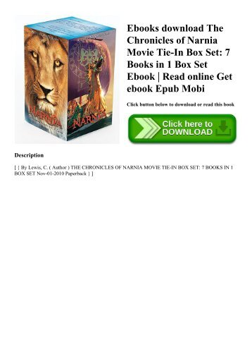 Ebooks download The Chronicles of Narnia Movie Tie-In Box Set 7 Books in 1 Box Set Ebook  Read online Get ebook Epub Mobi