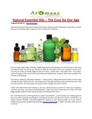 Natural Essential Oils – The Cure for Our Age