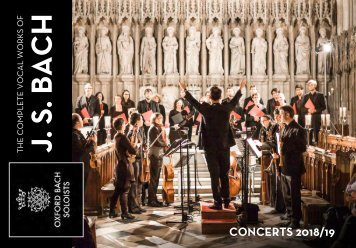 Oxford Bach Soloists – Concerts 2018/19