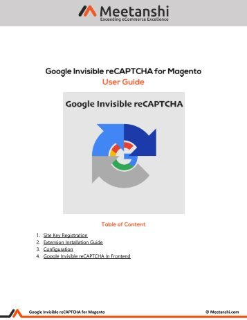 Magento Google Invisible reCAPTCHA