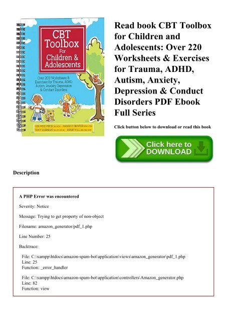 Read book CBT Toolbox for Children and Adolescents Over 220