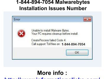 1-844-894-7054 Malwarebytes Installation Issues Number
