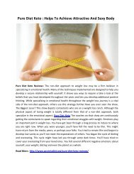 Pure Diet Keto : Helps To Maintain A Healthy Diet Every Day