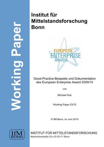 Business - Institut für Mittelstandsforschung Bonn