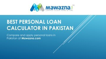 Personal loan calculator Pakistan