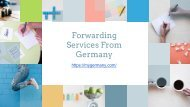 Forwarding Services From Germany - myGermany