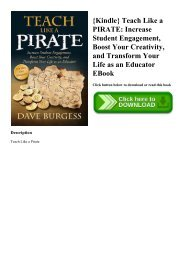 {Kindle} Teach Like a PIRATE Increase Student Engagement  Boost Your Creativity  and Transform Your Life as an Educator EBook