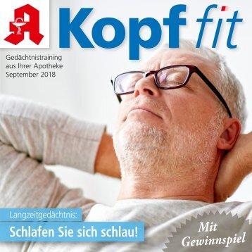 """Leseprobe """"Kopf-fit"""" September 2018"""