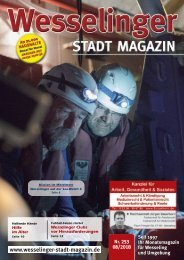 Wesselinger Stadt Magazin August 2018