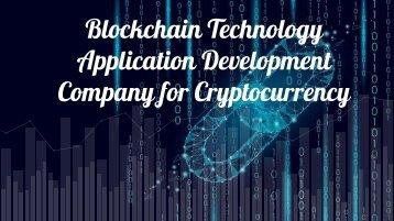 Blockchain technology application development pdf