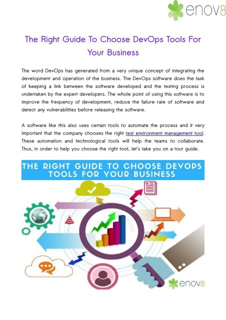 The Right Guide To Choose DevOps Tools For Your Business