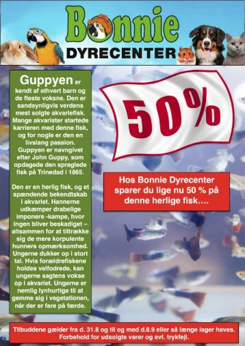 BONNIE DYRECENTER - TILBUDS KATALOG SEPTEMBER 2018