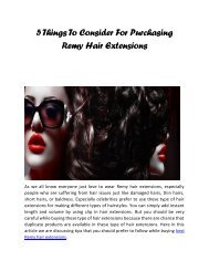 5 Things To Consider For Purchasing Remy Hair Extensions