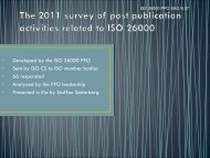 • Developed by the ISO 26000 PPO • Sent by ISO CS to ISO member ...