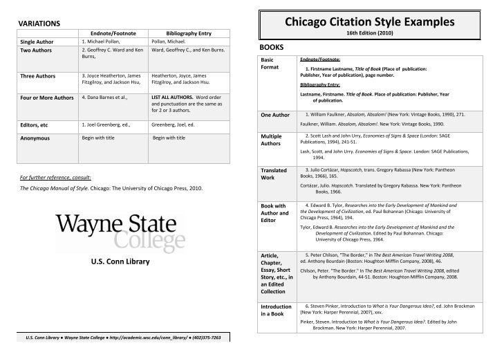 chicago format citations Formatting examples 3 although it is possible to use parenthetical citations in chicago style una center for writing excellence 6.